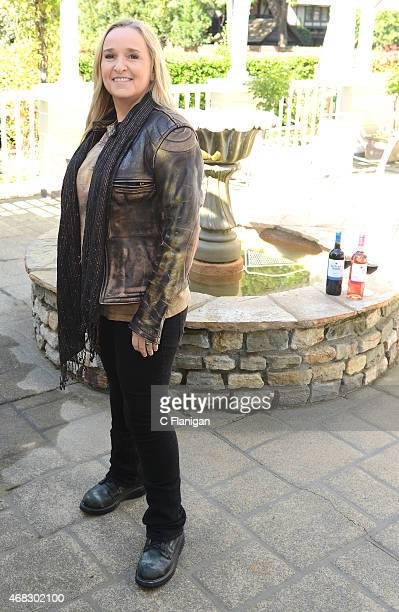 Singer Melissa Etheridge poses at Sutter Home Winery during Day 2 of the 2015 Live in the Vineyard Music Food and Wine Festival on March 27 2015 in...
