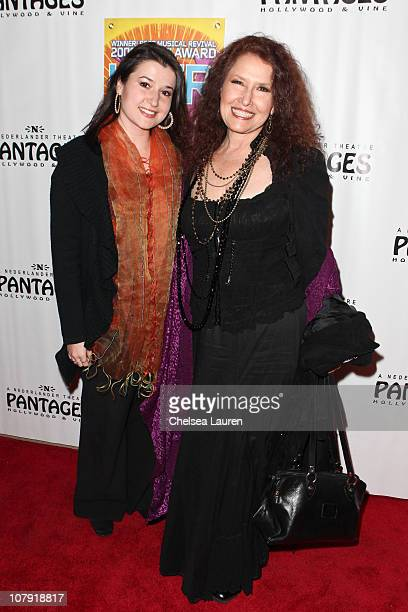 Singer Melissa Manchester and her daughter arrive at the opening night of HAIR at the Pantages Theatre on January 6 2011 in Hollywood California