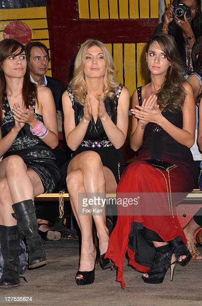 Singer Melissa Mars TV presenter Holfit Golan and model Diana Betan attend the Christophe Guillarme Front Row Paris Fashion Week Spring / Summer 2012...