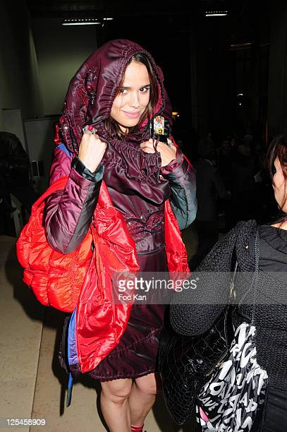 Singer Melissa Marsi attends the 'My Face' Gallery and Warner Bros - Tribute To The 75th Anniversary of DC Comics at the Palais De Tokyo on October...