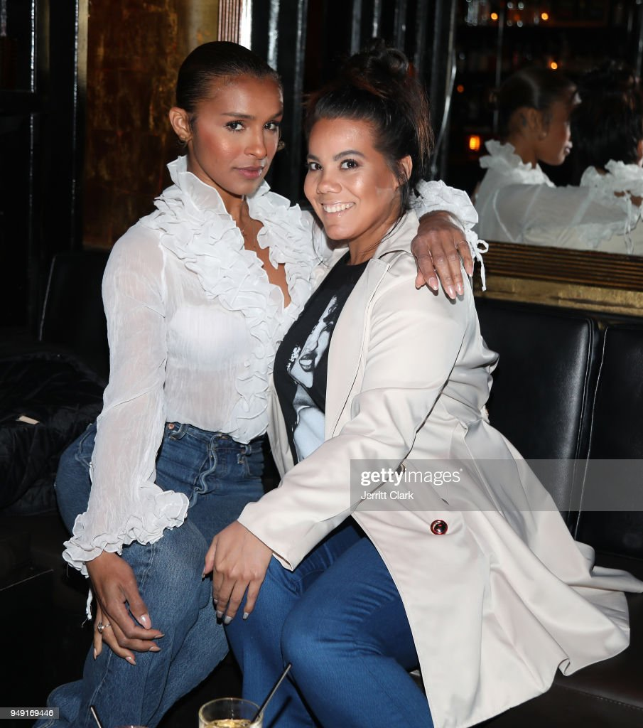 Singer Melody Thornton and Ashley Olivas attend Mitch SPACE Listening Event on April 19, 2018 in Los Angeles, California.