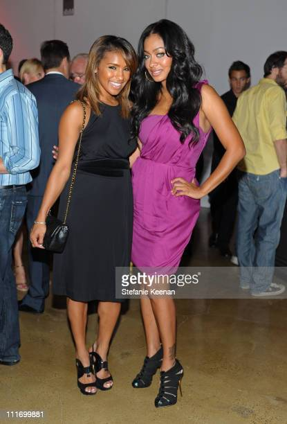 Singer Melody Thornton and TV Personality LaLa Vazquez attend the launch of the new Porsche Panamera celebrated by Porsche and Vanity Fair held at...