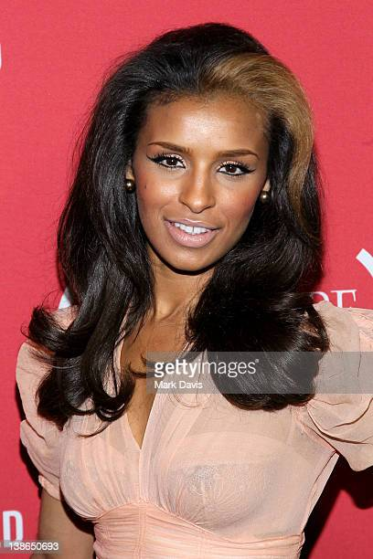Singer Melody Thornton arrives at the RED PreGrammys Party with Mary J Blige held at Avalon on February 9 2012 in Hollywood California Photo by Mark...