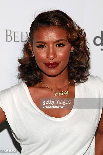 Singer Melody Thornton attends DJ Cassidy's birthday celebration at The New York Public Library on July 8 2009 in New York City