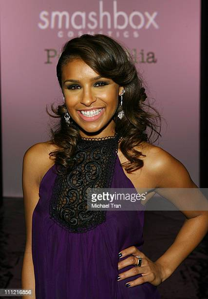 Singer Melody Thornton front row at Petro Zillia Spring 2008 collection during Mercedes Benz Fashion Week held at Smashbox Studios on October 18 2007...