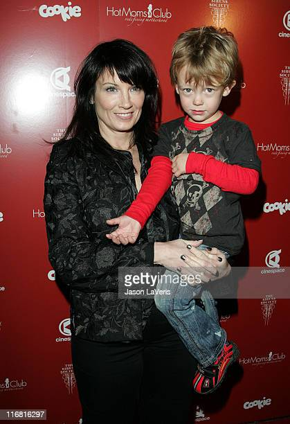 Singer Meredith Brooks and her son at the Still Thankful Still Giving Premiere Fundraising Event at Cinespace in Hollywood California on November 29...