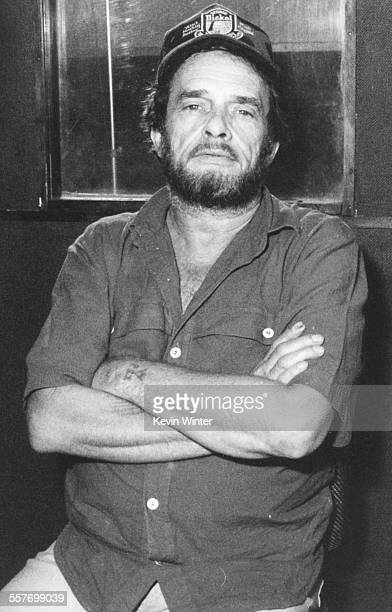 Singer Merle Haggard at Capitol Records in Los Angeles July 10th 1989