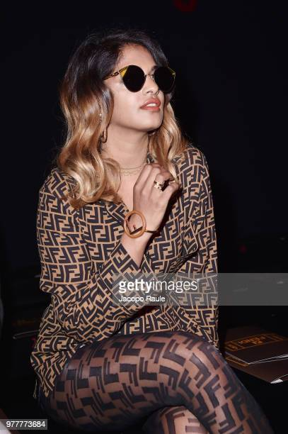 Singer MIA attends the Fendi show during Milan Men's Fashion Week Spring/Summer 2019 on June 18 2018 in Milan Italy
