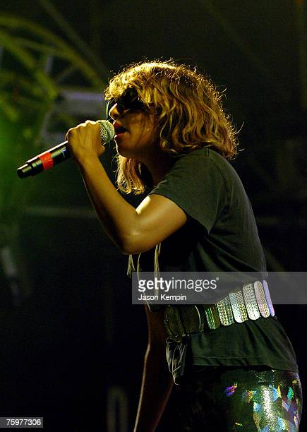 Singer MIA performs onstage at the Virgin Festival By Virgin Mobile 2007 at Pimlico Race Course on August 5 2007 in Baltimore Maryland