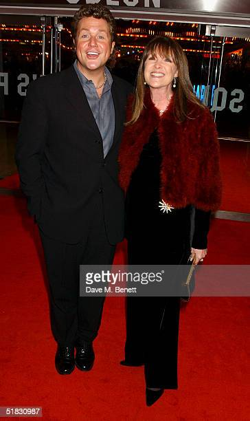 Singer Michael Ball and partner Cathy McGowan arrive at the World Premiere of Phantom Of The Opera at the Odeon Leicester Square on December 6 2004...