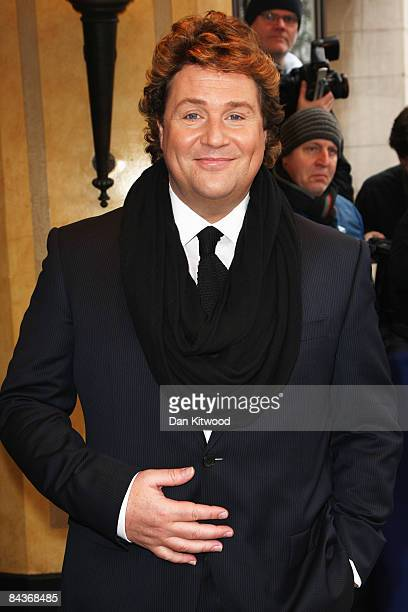 Singer Michael Ball arrives for the South Bank Show Awards at the Dorchester Hotel on January 20 2009 in London England