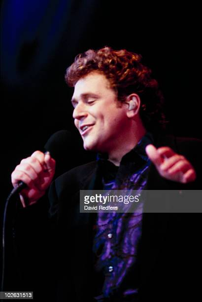 Singer Michael Ball performs on stage at the BBC Proms in the Park held at Hyde Park in London England in September 1997