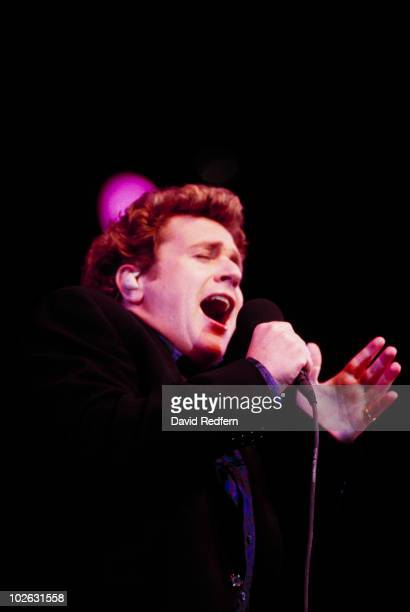 Singer Michael Ball performs on stage at the BBC Proms in the Park held at Hyde Park in London, England in September 1997.