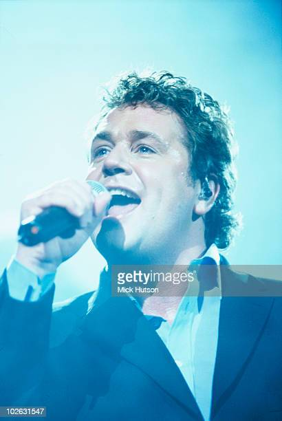 Singer Michael Ball performs on stage at the Royal Albert Hall in London, England in 2000.