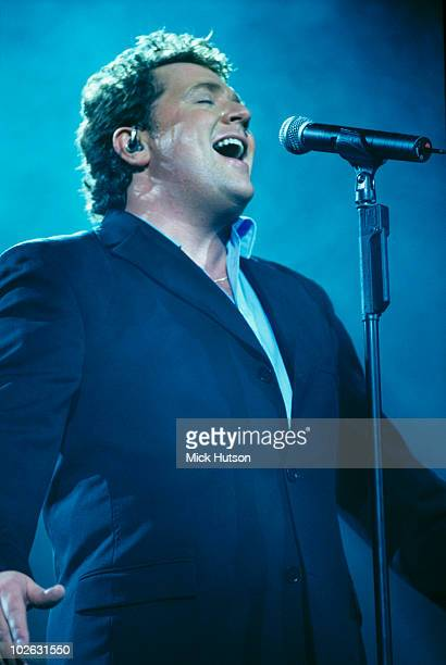 Singer Michael Ball performs on stage at the Royal Albert Hall in London England in 2000