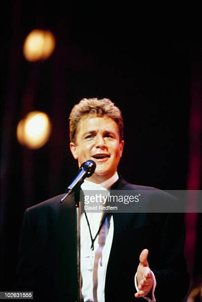 Singer Michael Ball performs on stage circa 1995.