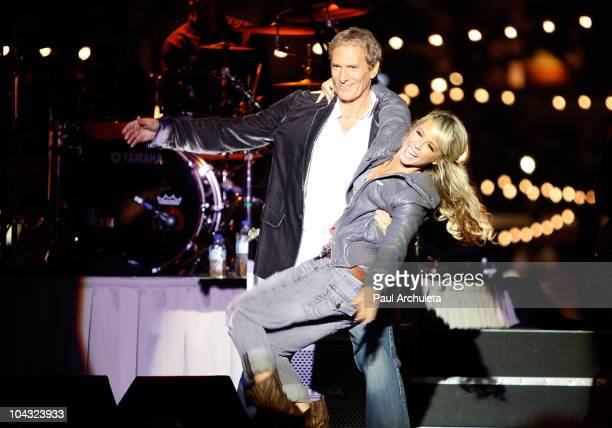 Singer Michael Bolton and dancer Chelsie Hightower on stage at the Songs For Hope Benefit Concert at The Grove on September 20 2010 in Los Angeles...