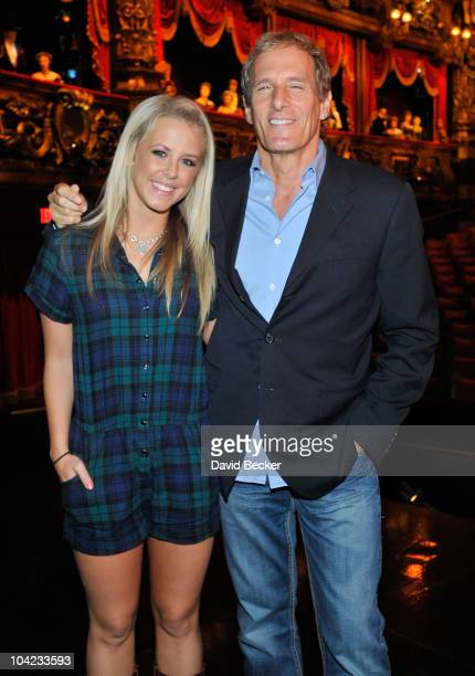 Singer Michael Bolton and his Dancing With the Stars partner Chelsie Hightower attend Phantom The Las Vegas Spectacular at The Venetian Resort Hotel...