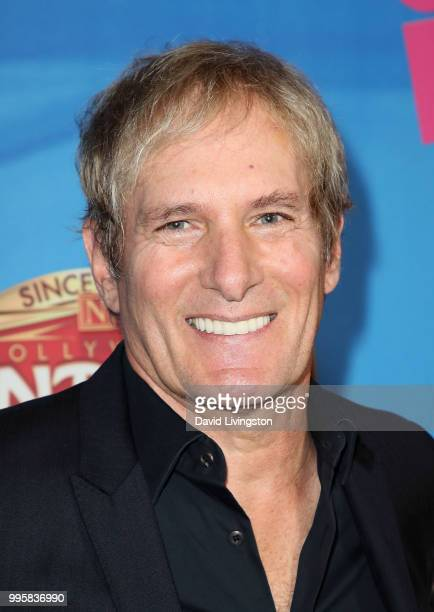Singer Michael Bolton attends a celebration of the Los Angeles engagement of On Your Feet the Emilio and Gloria Estefan Broadway musical at the...