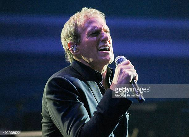 Singer Michael Bolton performs at the David Foster Foundation Miracle Gala And Concert held at Mattamy Athletic Centre on September 26 2015 in...