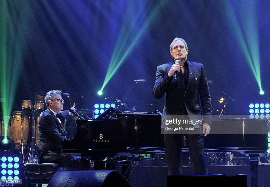Singer Michael Bolton performs at the David Foster Foundation Miracle Gala And Concert held at Mattamy Athletic Centre on September 26, 2015 in Toronto, Canada.