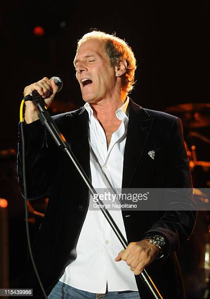 Singer Michael Bolton performs during the 30th Annual Seaside Summer Concert Series at Asser Levy Park on July 10 2008 in the Brooklyn borough of New...