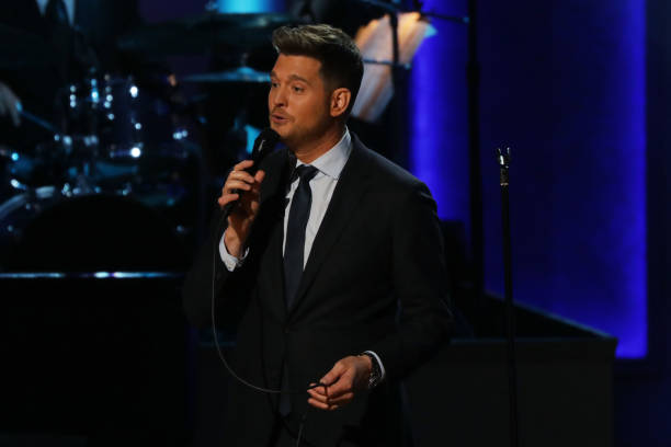us singer michael bubl performs during the library of congress gershwin prize honorees tribute concert in