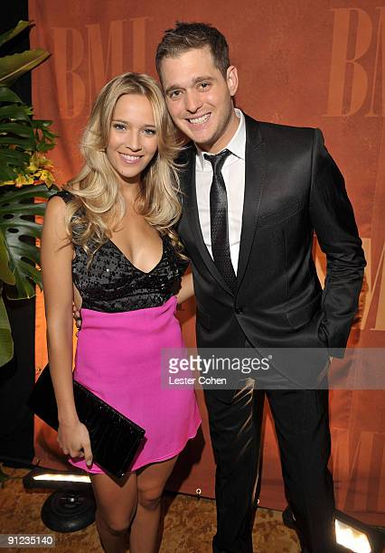 Singer Michael Buble and girlfriend Luisana Lopilato attend BMI's 57th Annual Pop Awards held at The Beverly Wilshire Hotel on May 19 2009 in Beverly...