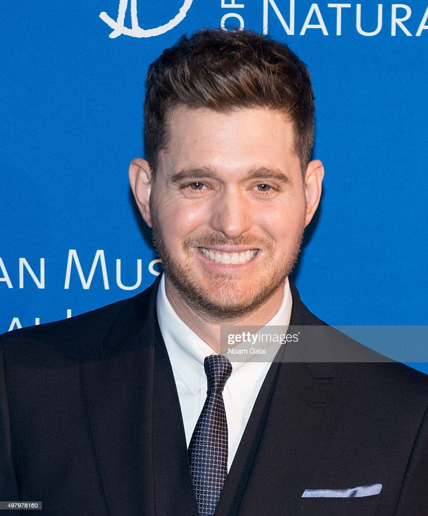 Singer Michael Buble attends the 2015 American Museum of Natural History Museum Gala at American Museum of Natural History on November 19, 2015 in New York City.