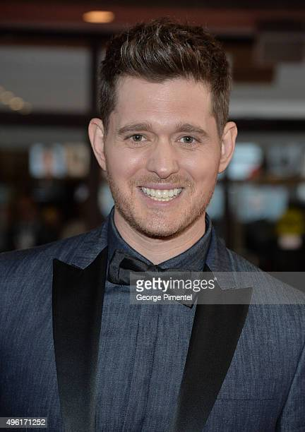 Singer Michael Buble attends the 2015 Canada's Walk Of Fame Awards at the Sony Centre for the Performing Arts on November 7 2015 in Toronto Canada