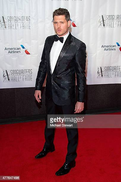 Singer Michael Buble attends the Songwriters Hall of Fame 46th Annual Induction and Awards at Marriott Marquis Hotel on June 18 2015 in New York City