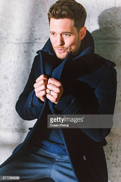 Singer Michael Buble is photographed for Canadian Living on June 5 2015 in Vancouver British Columbia