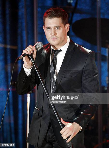 Singer Michael Buble performs at BMI's 57th Annual Pop Awards at the Beverly Wilshire Hotel on May 19 2009 in Beverly Hills California