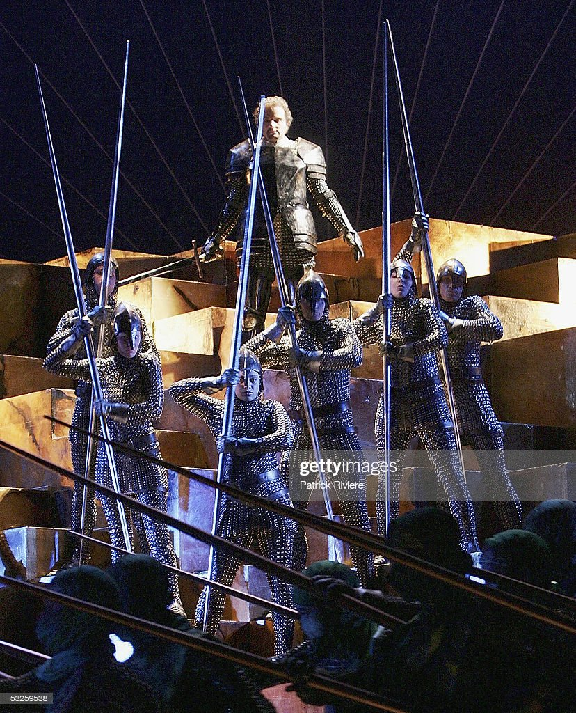 Singer Michael Chance (Rinaldo) performs during a dress rehearsal of Handel's 'Rinaldo' at the Opera House on July 19, 2005 in Sydney, Australia.