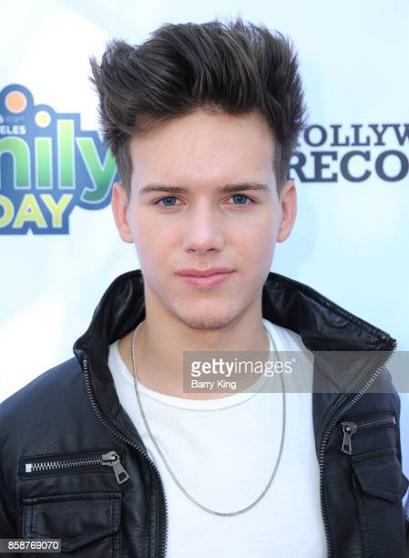 Singer Michael Conor of boy band In Real Life attends TJ Martell Foundation Family Day at The Grove on October 7 2017 in Los Angeles California