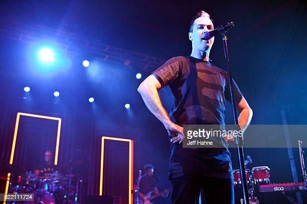 Singer Michael Fitzpatrick of Fitz and the Tantrums performs at The Fillmore Charlotte on November 9 2016 in Charlotte North Carolina