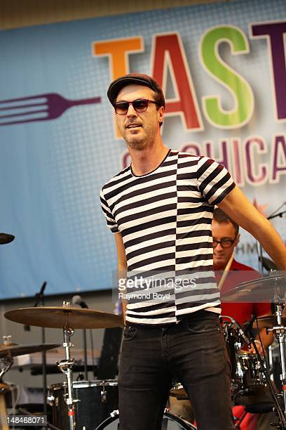 Singer Michael Fitzpatrick of Fitz The Tantrums performs on the Petrillo Music Shell during the 32nd Annual 'Taste Of Chicago' in Chicago Illinois on...