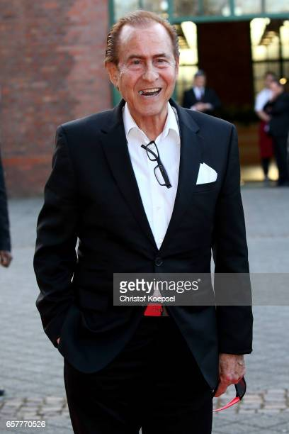 Singer Michael Holm poses during the Steiger Award at Coal Mine Hansemann Alte Kaue on March 25 2017 in Dortmund Germany
