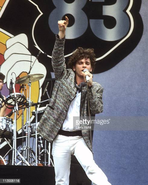 Singer Michael Hutchence along w/ INXS Performs at the US Festival in Devore California on May 28 1983