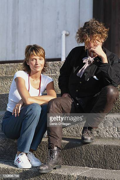 Singer Michael Hutchence of Australian rock group INXS with his girlfriend Danish model Helena Christensen in Japan May 1994 INXS are performing at...