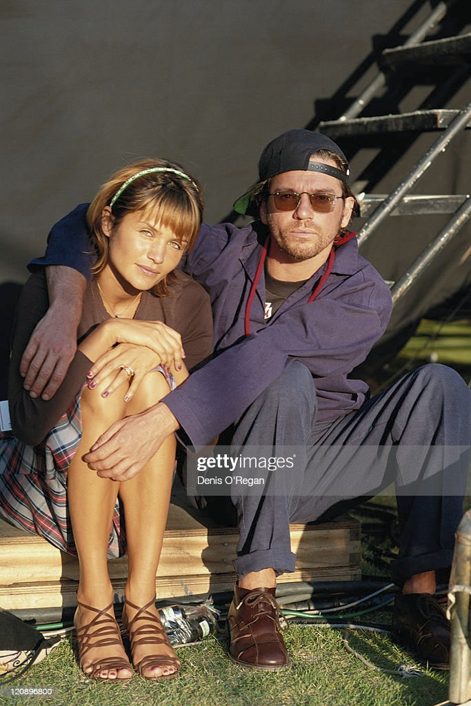 Singer Michael Hutchence (1960 – 1997), of Australian rock group INXS, with his girlfriend, Danish model Helena Christensen, in Japan, May 1994. INXS are performing at the Todai-ji temple in Nara during the UNESCO-sponsored Great Music Experience festival, 20th-22nd May 1994.