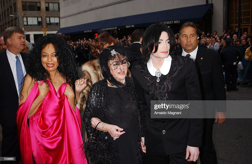 Singer Michael Jackson Actress Elizabeth Taylor And Diana Ross Attend The Wedding Of Liza