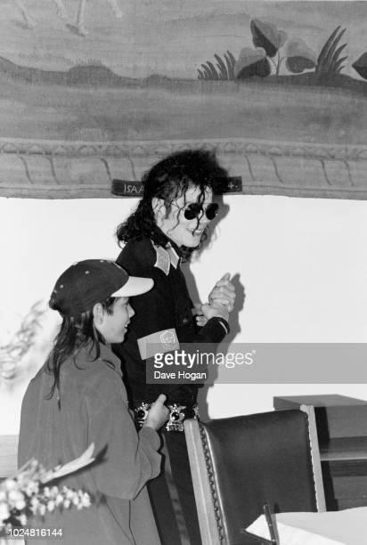 Singer Michael Jackson and Brett Barnes are seen in London circa 1992