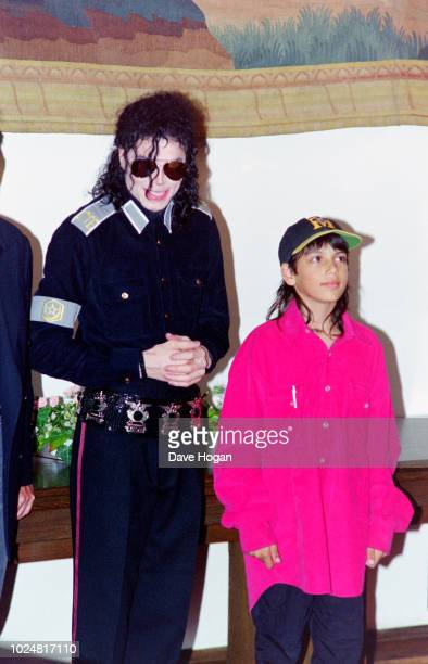 Singer Michael Jackson and Brett Barnes are seen in London circa 1992