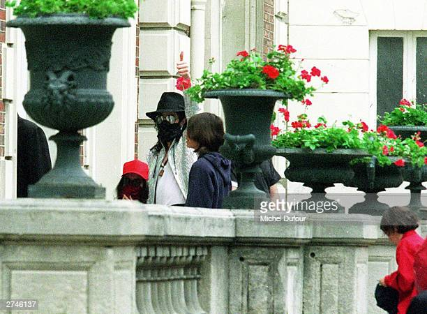 Singer Michael Jackson and unidentified friends arrive at the clinic Le Belvedere in Paris 1997 Santa Barbara County Sheriff's office confirmed they...