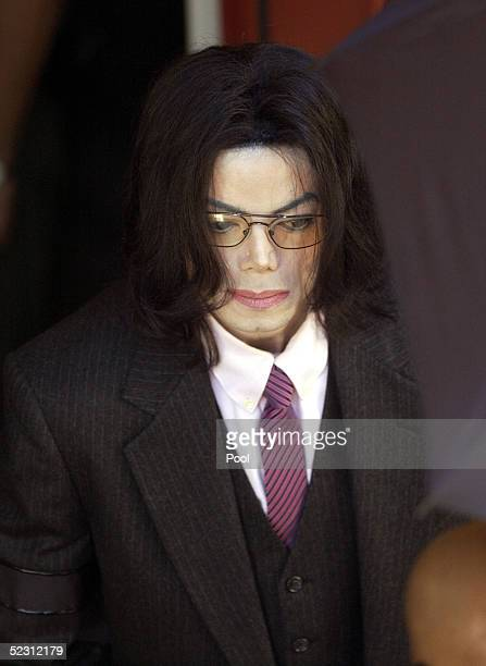 Singer Michael Jackson departs the Santa Barbara County Superior Court March 8 2005 in Santa Maria California Jackson is charged in a 10count...