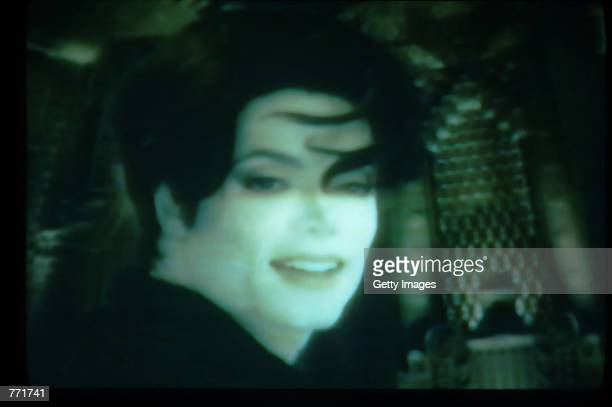 Singer Michael Jackson is seen in the You Are Not Alone music video August 4 1995 in USA Jackson and his wife Lisa Marie Presley appeared in the...