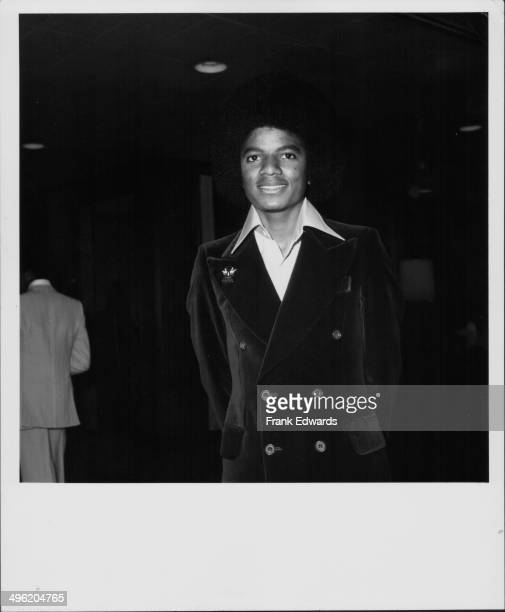 Singer Michael Jackson of the Jackson Five attending a Doobie Brothers concert at the Century Plaza Hotel California June 1977