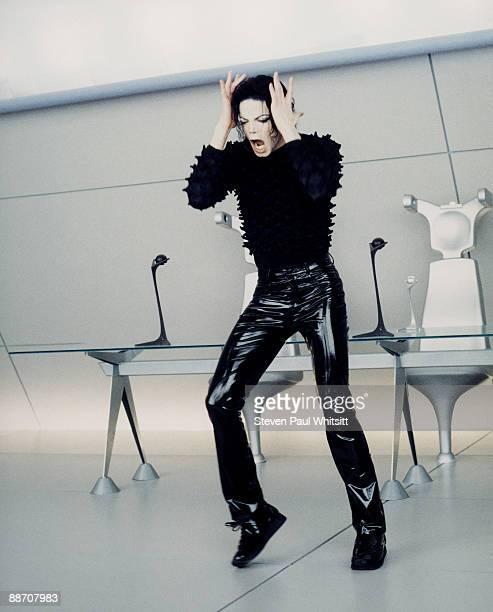 Singer Michael Jackson on the set of music video 'Scream' 1995 Los Angeles CA