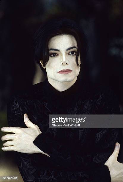 Singer Michael Jackson performing on the set of music video 'You Are Not Alone' in 1995 Los Angeles CA